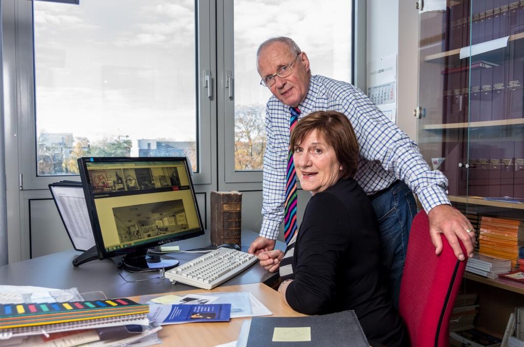 Frau E. Vasilescu und Prof. G. Arnold