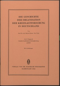 Kisch, B., Die Geschichte der Orga. der Kreislaufforschung in Deutschl