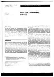 Bruno Kisch leben und werk