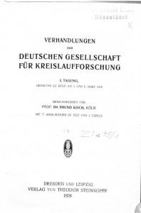 Verhandlungen der DGK 1. Tagung 1928
