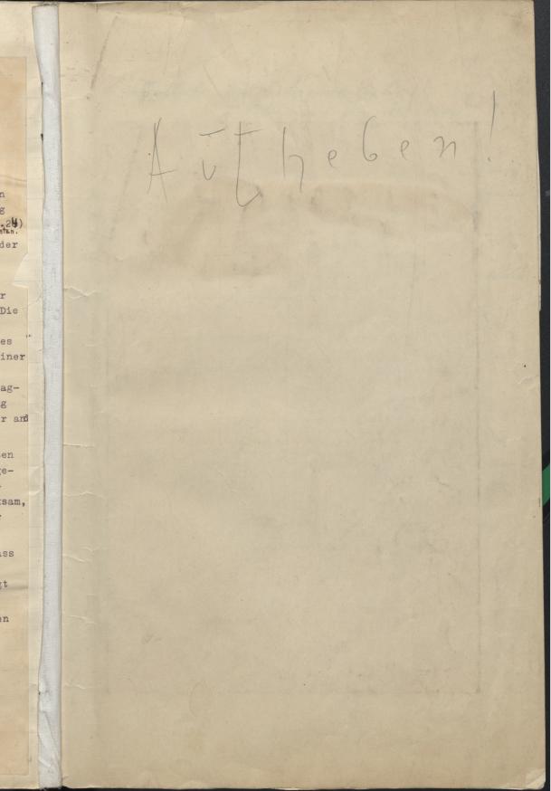Vorstandsprotokolle 1928
